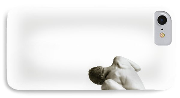 IPhone Case featuring the photograph Twisted Figure On White by Rikk Flohr