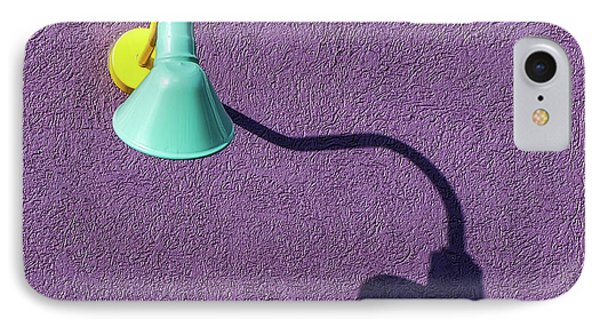IPhone Case featuring the photograph Twisted Lamp And Shadow by Gary Slawsky