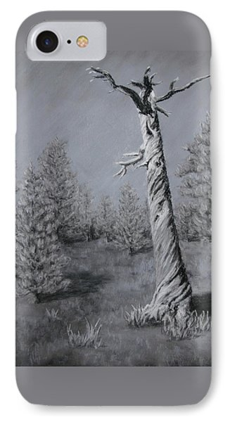 IPhone Case featuring the painting Twisted by Nancy Jolley