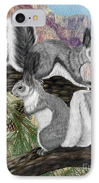 Two Abret Squirrels IPhone Case