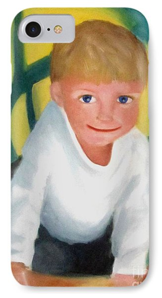 IPhone Case featuring the painting Two And A Half by Patricia Cleasby