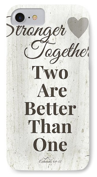 Two Are Better Than One- Art By Linda Woods IPhone Case by Linda Woods