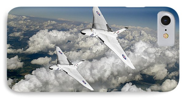 IPhone 7 Case featuring the photograph Two Avro Vulcan B1 Nuclear Bombers by Gary Eason