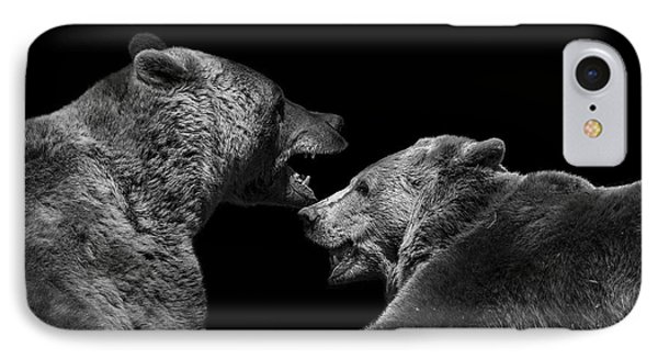 Two Bears In Black And White IPhone Case