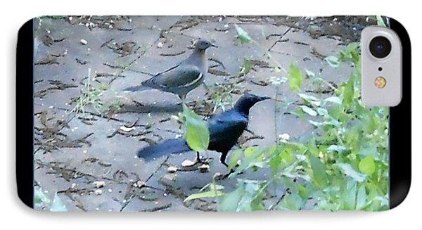 Two Birds Blue IPhone Case by Felipe Adan Lerma