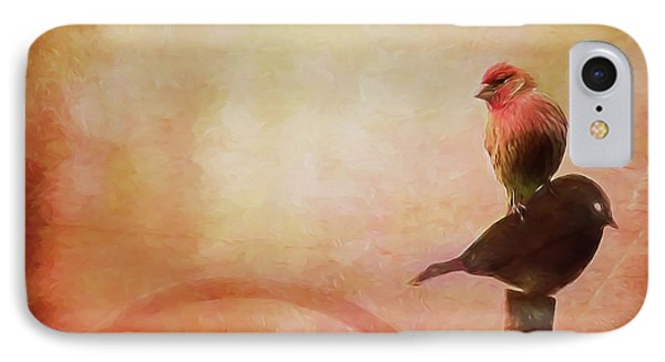 Two Birds In The Mist IPhone Case by Bellesouth Studio