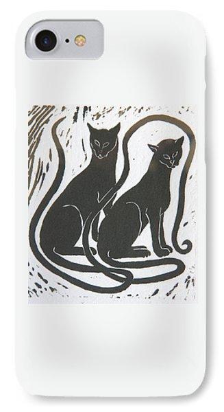 Two Black Felines IPhone 7 Case by Nareeta Martin