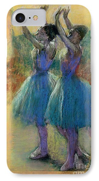 Two Blue Dancers Phone Case by Edgar Degas