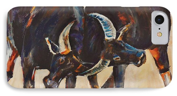 Two Bulls Fighting IPhone Case