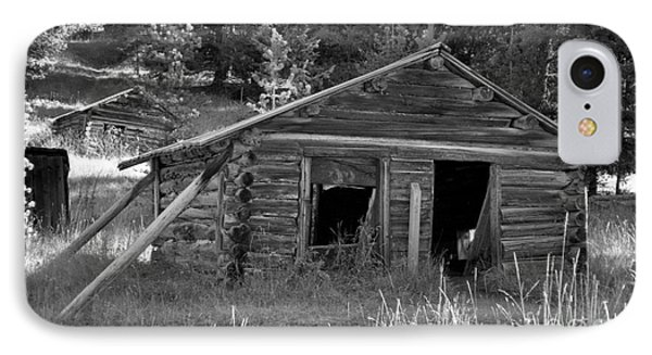 Two Cabins One Outhouse Phone Case by Richard Rizzo
