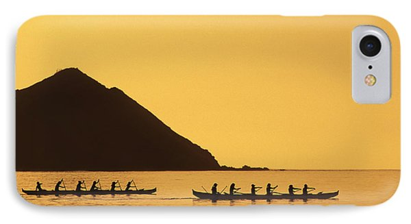 Two Canoes Silhouetted Phone Case by Dana Edmunds - Printscapes