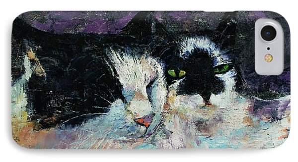 Two Cats IPhone Case by Michael Creese