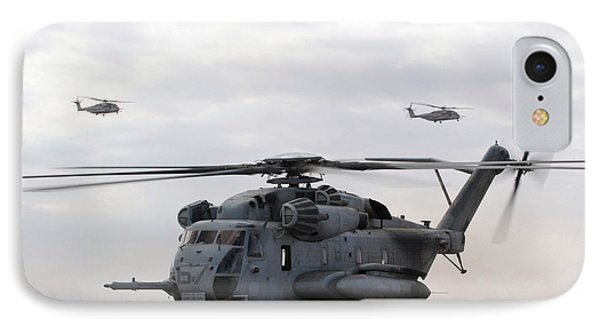 Two Ch-53e Super Stallion Helicopters IPhone Case