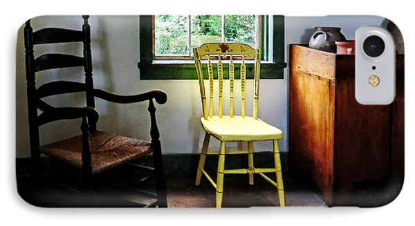 Two Chairs In Kitchen IPhone Case by Susan Savad
