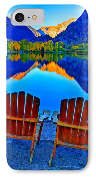 Two Chairs In Paradise Phone Case by Scott Mahon