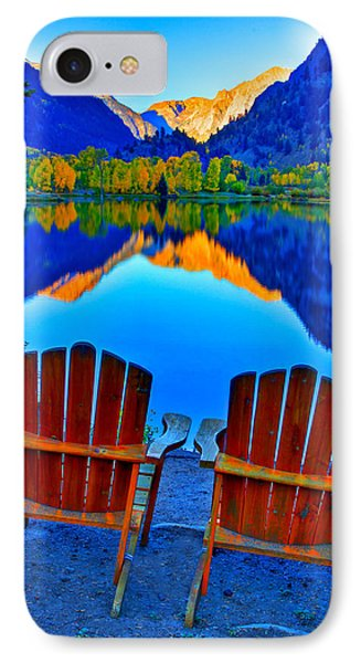 Two Chairs In Paradise IPhone Case