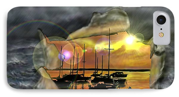 IPhone Case featuring the digital art Two Climates by Darren Cannell