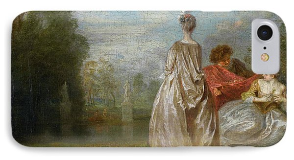 Two Cousins IPhone Case by Jean-Antoine Watteau