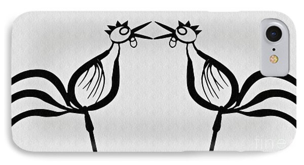 Two Crowing Roosters  IPhone 7 Case