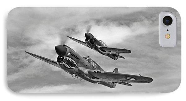 Two Curtiss P-40 Warhawks In Flight IPhone Case by Scott Germain
