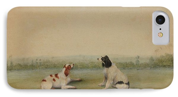 Two Dogs In A Landscape IPhone Case