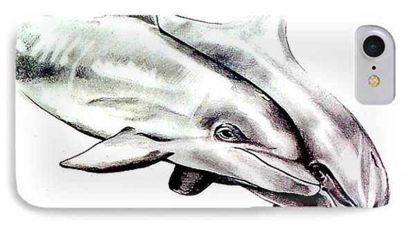 Two Dolphins Phone Case by John Keaton