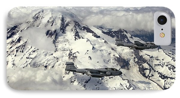 Two Ea-6b Prowlers Fly In Formation Phone Case by Stocktrek Images