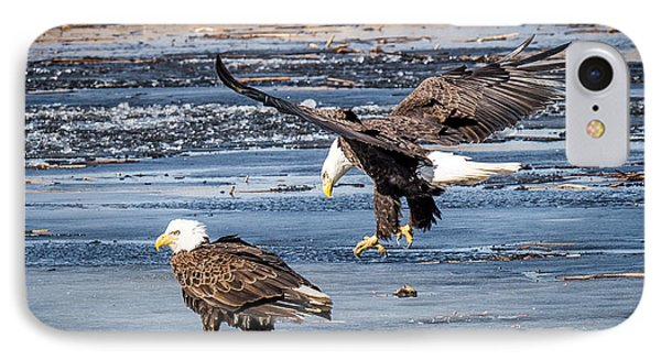 Two Eagles IPhone Case by Paul Freidlund