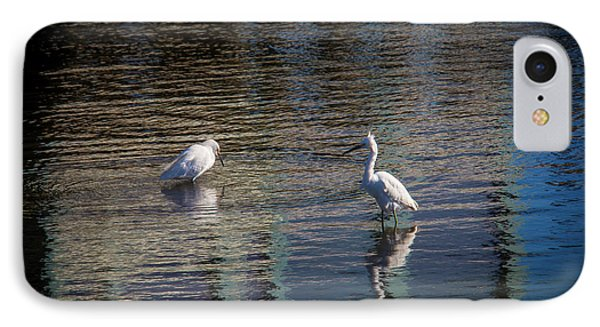 Two Egret's Fishing IPhone Case