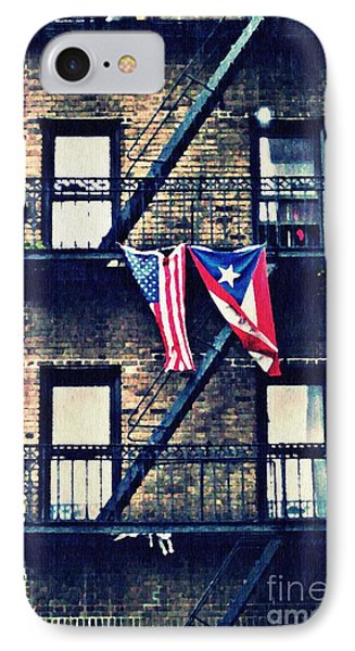Two Flags In Washington Heights Phone Case by Sarah Loft