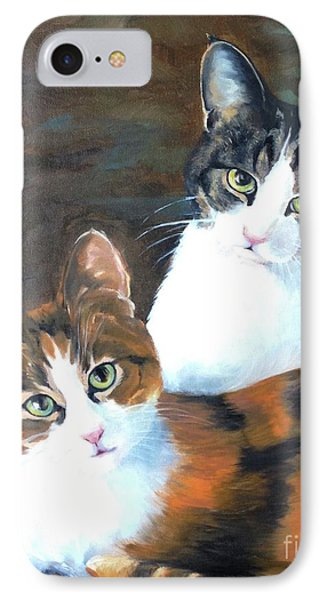 Two Friends IPhone Case by Diane Daigle
