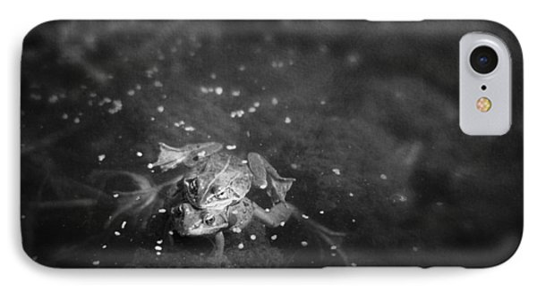Two Frogs In A Pond Mating By Laying Phone Case by Roberta Murray