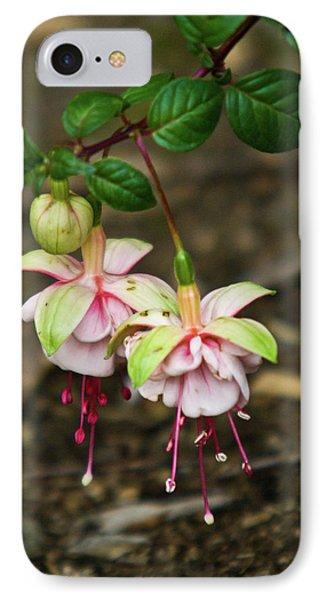 Two Fushia Blossoms Phone Case by Douglas Barnett