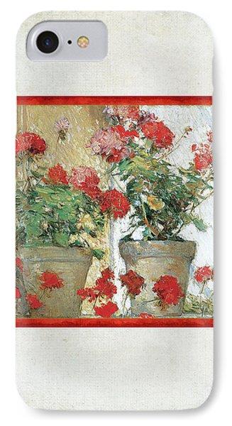 Two Geranium Pots IPhone Case by Audrey Jeanne Roberts