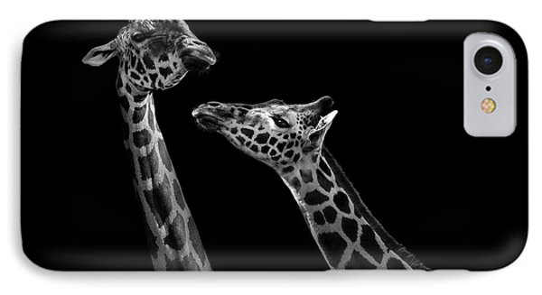 Two Giraffes In Black And White IPhone 7 Case