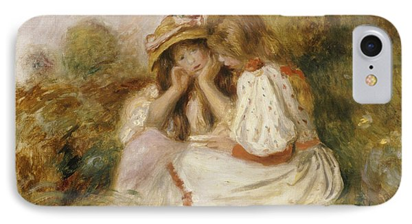 Two Girls IPhone Case by Pierre Auguste Renoir