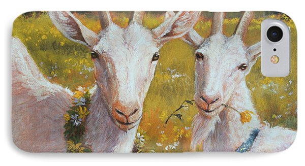 Two Goats Of Summer IPhone 7 Case by Tracie Thompson