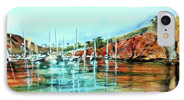 Two Harbors Catalina Morning Impressions IPhone Case by Debbie Lewis