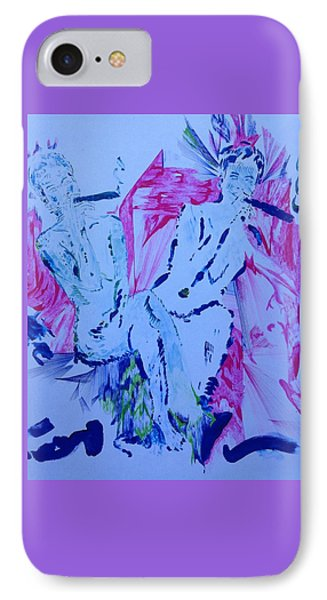 Two Having Fun IPhone Case by Contemporary Michael Angelo