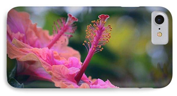 Two Hibiscus IPhone Case by Lori Seaman