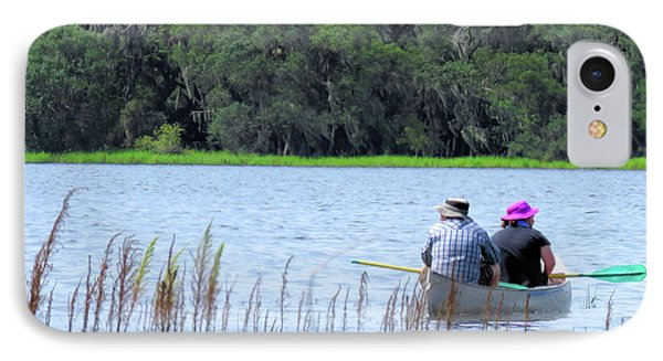 Two In A Canoe Phone Case by Rosalie Scanlon