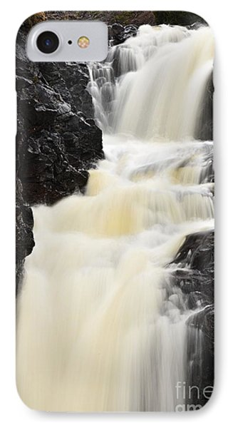 IPhone Case featuring the photograph Two Island River Waterfall by Larry Ricker