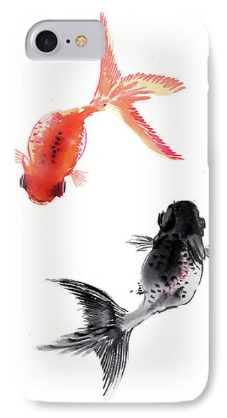 Two Koi IPhone Case by Suren Nersisyan