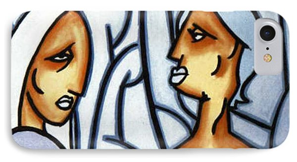 Two Ladies IPhone Case by Thomas Valentine