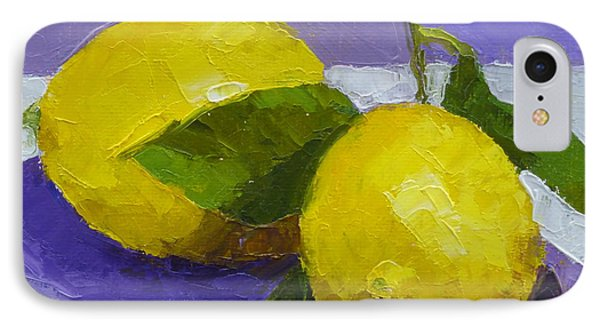 Two Lemons IPhone Case by Susan Woodward