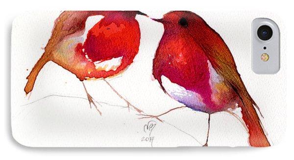 Two Little Birds IPhone Case by Nancy Moniz
