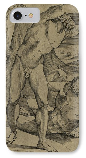 Two Nude Men  One Standing, One Reclining IPhone Case