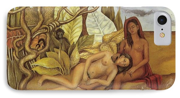 Two Nudes In The Forest IPhone Case by Frida Kahlo