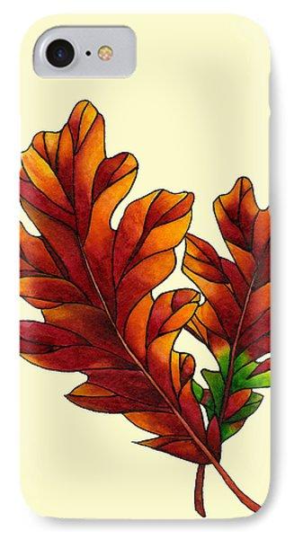 Two Oak Leaves IPhone Case by Dawnstarstudios