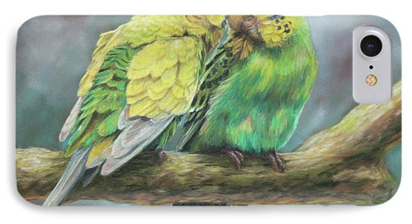 Parakeet iPhone 7 Case - Two Of A Kind by Kirsty Rebecca